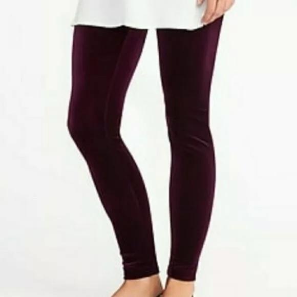 Old navy purple velvet leggings!